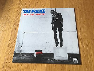 "Police - Can't Stand Losing You - 1978 7"" P/s Shiny Sleeve Mint!! Record Nm!!"