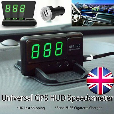 Universal Car GPS HUD Head up display Driving Speed Project windscreen Must Have