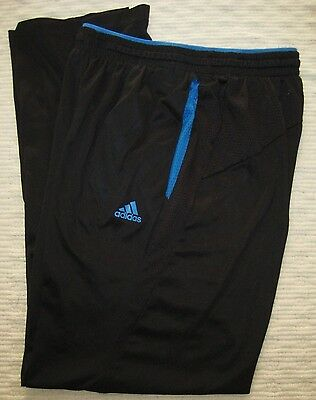 ADIDAS ClimaCool Black & Blue Athletic Sports Field Pants Youth Size Large