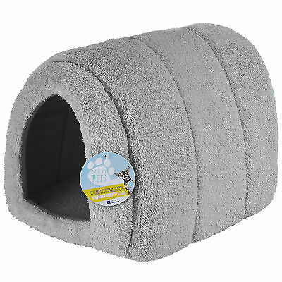 Me & My Pets Soft Grey Fleece Cat/kitten/dog/puppy Igloo Pet Bed Warm House/pod