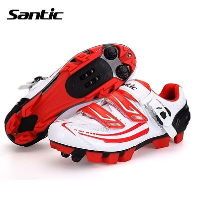 Santic MTB Eggbeater Shimano SPD System Bike Cycling Shoes White For Women