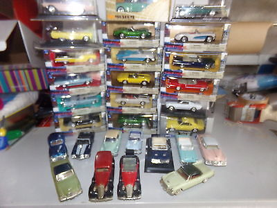 voiture miniature 1/43  NEW-RAY IXO SOLIDO        LOTS DE 35 VEHICULES AMERICAIN