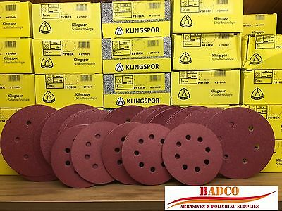125 & 150 mm Sanding Discs / Sandpaper KLINGSPOR PS22K - hard wood / metal
