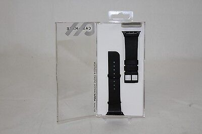 NEW Genuine Case Mate Signature Leather Band for Apple Watch 42mm Black CM032800