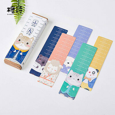 30pc/Box World of Animal Bookmark Book Mark Magazine Note Pad Label Ruler School