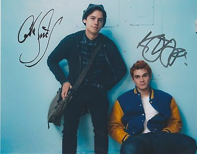 Riverdale (TV Series) KJ Apa Cole Sprouse 4 EXTREMELY RARE DUEL-SIGNED RP 8x10!