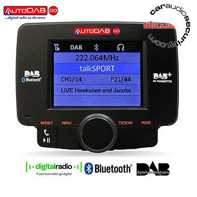 AutoDAB GO-S - Plug n Play Car DAB Digital Radio Upgrade with Bluetooth Built In