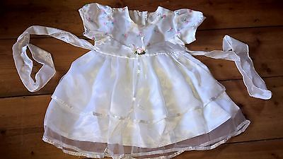 Pretty satin embroidered petticoat baby girls party dress 6-12m 0 as new