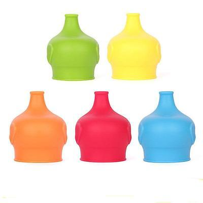 Universal Silicone Sippy Cup Straw Lids Glassware Jars Lid Kids Baby N7