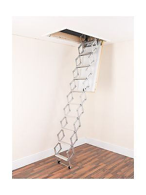 Alufix 9-Tread Concertina Loft Ladders Ideal for tiny attic spaces Easy