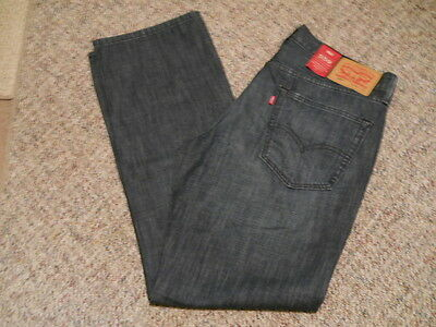 Men's Levis 559 Relaxed Straight Distressed Blue Denim Jeans Size 34 X 32 - Nwt