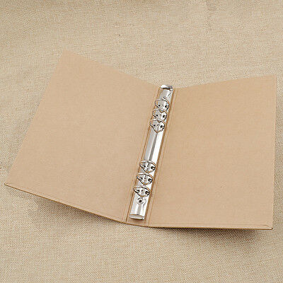 A5 Kraft Paper Cover Binder Folder File Replacement Stationery School Supplies