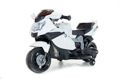 White Mini Motorbike - 6V Kids' Electric Toy Ride On