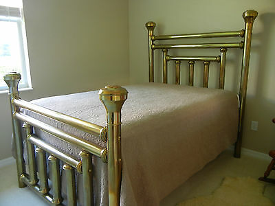 Antique Solid Brass Bed Full Size
