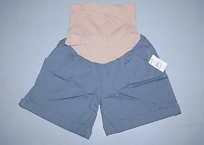 NEW Maternity Shorts SMALL 2016 Oh Baby Motherhood Khaki Secret Fit Gray NWT 4 6