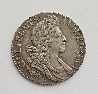 1700 William Iii Silver Shilling Coin Ef