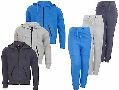 New Kids TrackSuit PK Patterened Hoodie Jogging Bottom Set Lined Hood Zipper Top