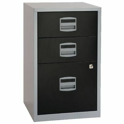 Bisley 2 & 3 Drawer A4 Locking Filing Cabinet White Black Free Del Special Offer