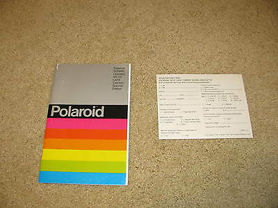 Vintage Polaroid Sonar One Step SE SX-70 Camera Manual & Registration Card