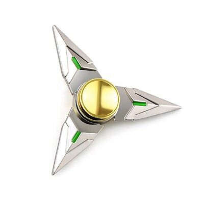 Useful Overwatch Genji Spinning Shuriken Ninja Stars Rotatable 9.7cm Metal Cosplay Prop Collectibles