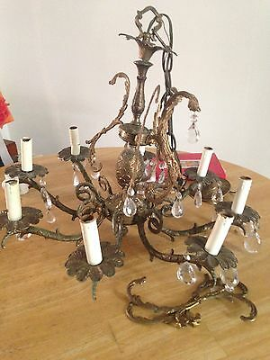 1920 chandelier all parts all lead crystals double piinapple 8 arms beautiful