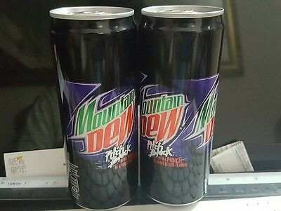 Mountain Dew Pitch Black W Grape Citrus Flavour Mountain Dew Can 330 Ml X 2 Cans