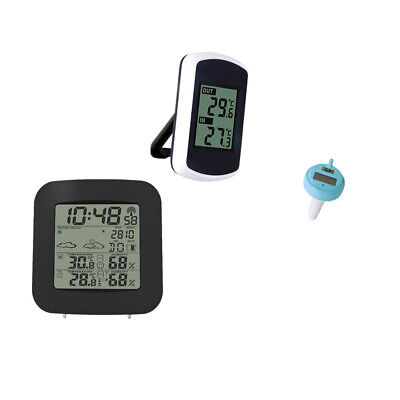 Digital Wireless Weather Station Forecast+Floating Swimming Pool Thermometer
