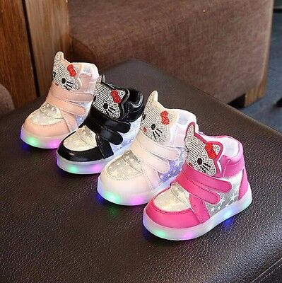 LED Kids Boys Girls Shoes Light Up Luminous Children Trainers Sport Sneakers