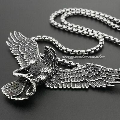VINTAGE STAINLESS STEEL Live To Ride Eagle Harley Pendant
