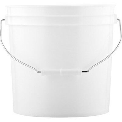 White Plastic Pail with Metal Handle and lid, HUGE LOT!!! SAVE MONEY!!!