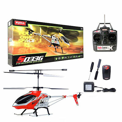 Syma Remote Control Helicopter S033G 3D Drone Fly  Heli   Intern & Extern