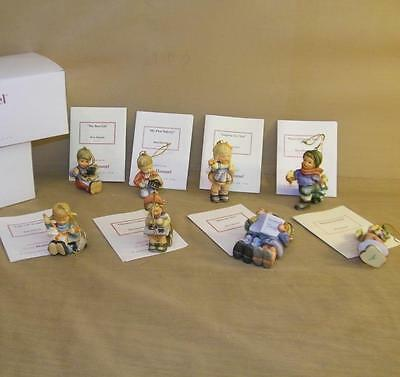 1997 Lot of 8 BERTA HUMMEL COLLECTION GOEBEL CHRISTMAS ORNAMENTS With Certific