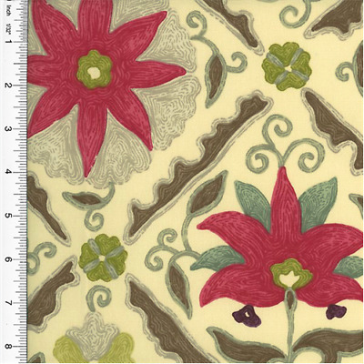 BRAEMORE FLORAL DIAMOND Print Home Decorating Fabric, Fabric ...