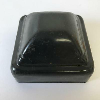 """Fence Post Caps, 2"""" square, Stamped Steel, Black, lot of 50"""