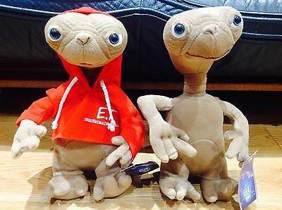 """E.T.  UNIVERSAL STUDIOS plush Toy 12"""" With Red Hoody 2x Dolls Spielberg Alien"""