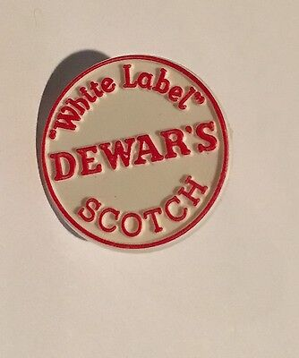 Dewar's White Label Scotch Golf Ball Marker