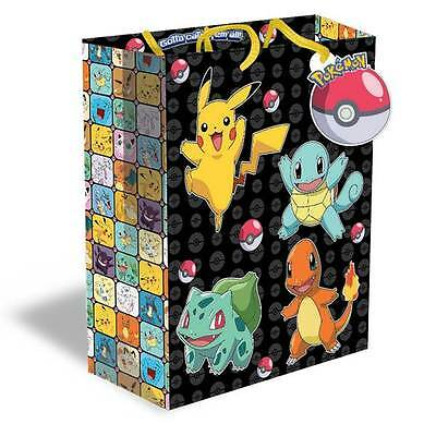 Pokemon Childrens Birthday Large Party Gift Bag And Tag New Free PP