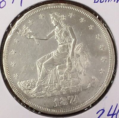 1874-P Trade Silver Dollar AU Details : 6000+ Items : Combined Shipping