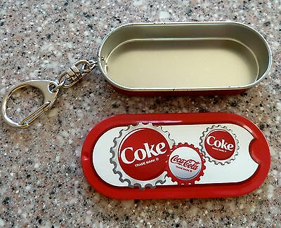 Coca Cola Metal Tin Key Chain, NEW