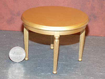 Dollhouse Miniature Gold Round Dining Table 1:12 inch scale A26 Dollys Gallery