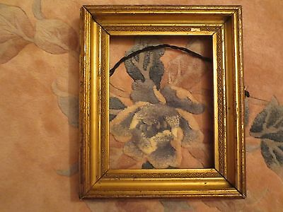 Vintage Wood Gold Gesso Picture Art Frame 10x8 In.
