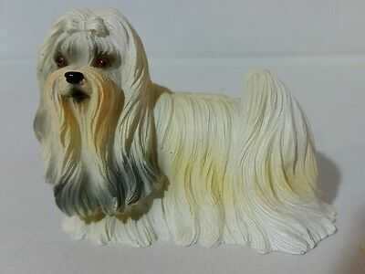 "Miniature Shih Tzu Dog 2.25"" Long Figurine"