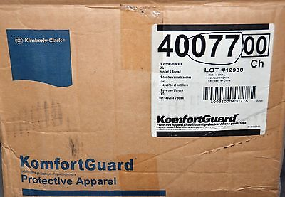KIMBERLY CLARK 40077 A10 COVERALLS CASE OF 25 sz 4XL Breathable HOODED BOOTED