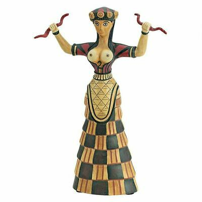"Ancient Greece 1500 BCE Knossos Cretan Snake Goddess 10.5""  Statue"