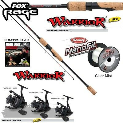 1 Top DS Set Fox Rage Warrior Drop Shot NRD188 + Warrior Reel 1000 +100m Nanofil