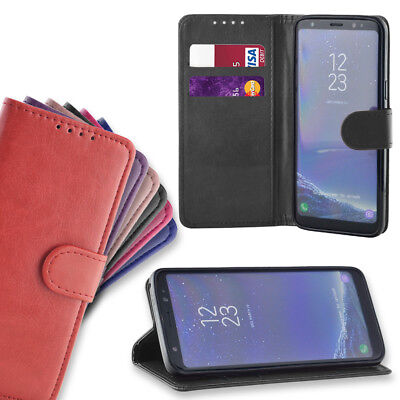 For Samsung Galaxy J4/J6 Plus Luxury Leather Magnetic Flip Wallet Case Cover