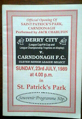 Carndonagh V Derry City 23/7/1989 Opening Of Ground