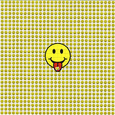TABS SMILEY FACE - BLOTTER ART Perforated Sheet acid free paper art