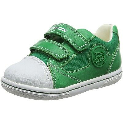 Geox Baby Flick C Green Leather First Walkers Shoes