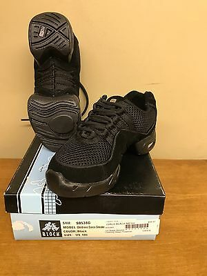 New Dance Sneaker Bloch 538 Blk Childs Size 10.5 Hip Hop Shoe Free Priority S&H